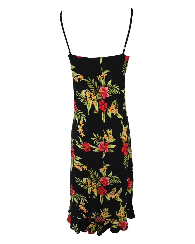 hawaiian-sundress-midlength-spaghetti-strap-enchanted-evening-black-back-view