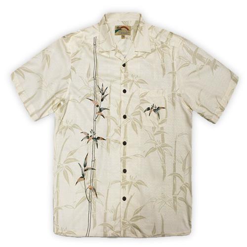 Paradise Found Hawaiian Shirt – Bamboo Embroidery Cream