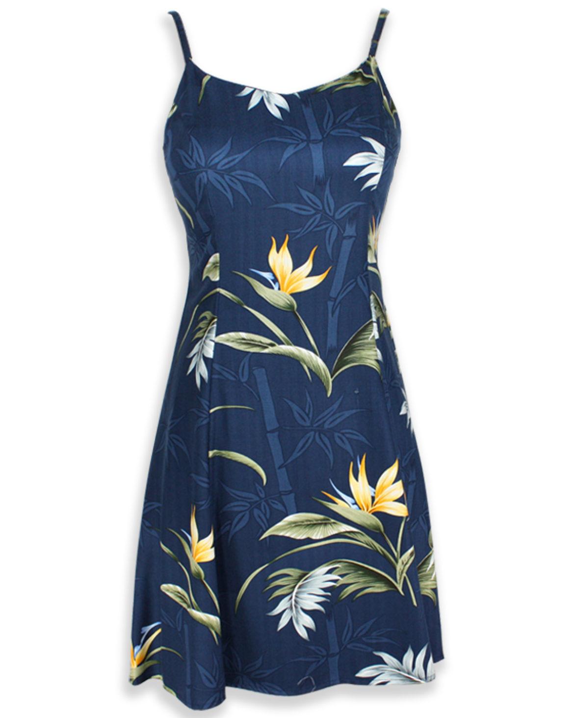 Paradise Found Sexy Short Sundress - Bamboo Paradise Navy Blue