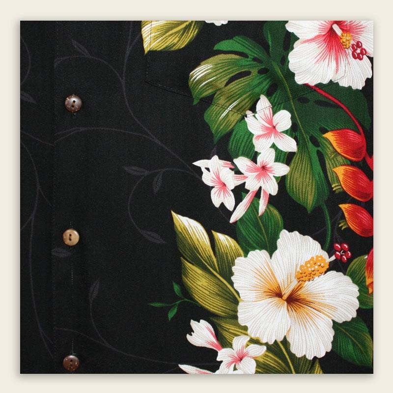 Hawaiian Shirt – Paradise Garden Black