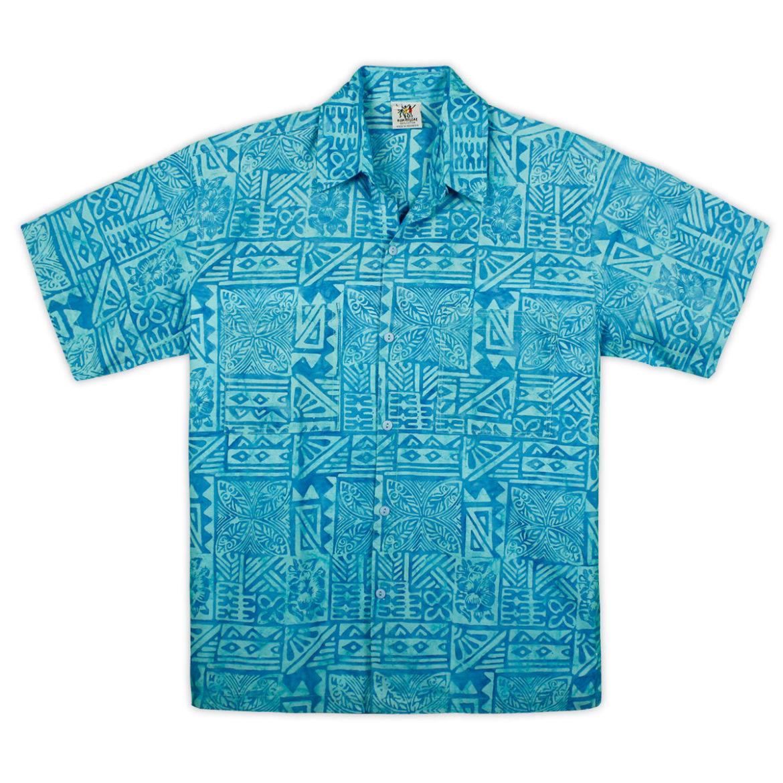 Rum Reggae Hawaiian Shirt - Tapa Rama - Oceania Blue