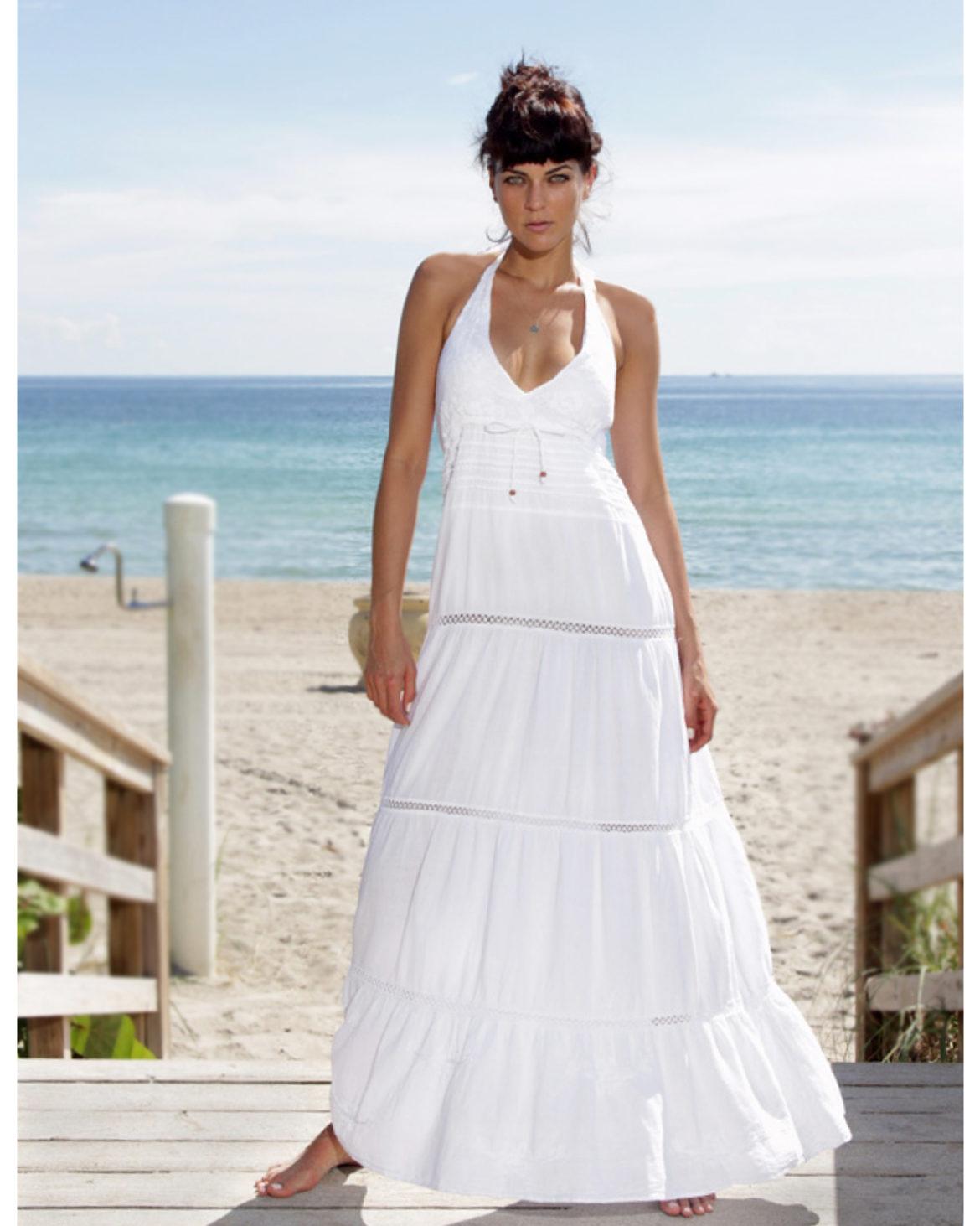 GioCam - White Long Sundress - Diva- Front -